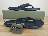 Keen Alman Flip Flops Thong Sandals Womens Size 5.5 Black Leather Slip On