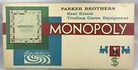 Vintage Monopoly Board Game 1961 Parker Brothers Real Estate Trading Complete