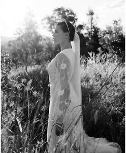Frock & Frill White Embellished Tulle Sleeve Wedding Maxi Party Dress UK 14 42