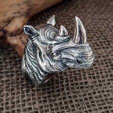 Huge Rhinoceros Silver Ring rhino ring rhinoceros jewelry rhino silver