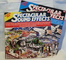 SPECTACULAR SOUND EFFECTS - vintage vinyl LP - 2 Record set - Albums 1 & 2