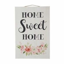 Glitzhome 17'H Farmhouse Wooden Home Sweet Home Flower Hanging Sign Wall Decor