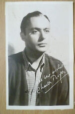 Original Photograph with Autograph- CHARLES BOYER was an American (5.5x3.5 inch)