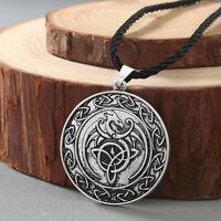 Double Side Viking Slavic Talisman Knot Celtic Dragon Necklaces Men Gift Jewelry