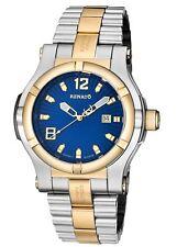 Mens Renato T-rex Swiss ETA 2824 Automatic 25 JEWEL Blue Dial Watch