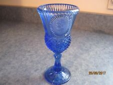 Vintage Avon Martha Washington Colbolt Blue Fostoria Candle Holder
