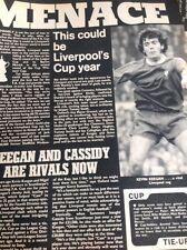 J1-5 Ephemera 1972 Football Article Liverpool V Oxford Pre Match News