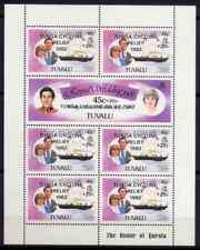 TUVALU 1981 - BLOC ROYAL YACHT OVERP TONGA CYCLONE MNH