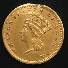 USA 1856 Gold 1 Dollar Goldmünze Philadelphia Indian Princess Head Large 4543