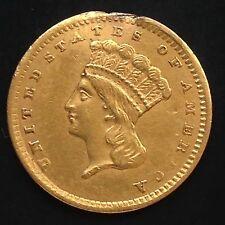 USA 1856 Gold 1 Dollar Goldmünze Philadelphia Indian Princess Head Large 4543