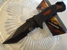 Mtech Xtreme Ballistic Assisted Open Black Tanto Combat Pocket Knife MX-A847TBS