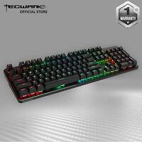 Tecware Phantom RGB 104-Key Gaming Mechanical Keyboard Blue Brown Red Switch