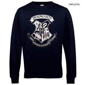 Official Sweatshirt Harry Potter Sweater Hogwarts SIGIL Crest Navy Blue