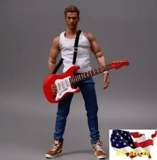 1/6 classic electric Brown guitar Michael Jackson music instrument hot toys❶USA❶