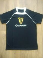 Guinness Rugby Black T-shirt Size L Large New And Sealed!