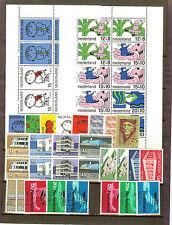 PAYS BAS lot entre 1966 et 69 neufs et oblitérés BLOC +TIMBRES COTE 96 €