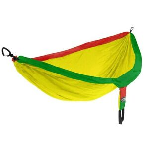 ENO Doublenest Rasta 2 Person Lightweight Nylon Camping Hammock Hiking Brand New