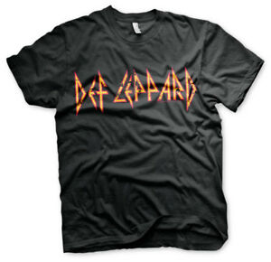 Official Def Leppard Distressed Logo T-shirt Music Band S-XXL (Black)