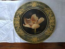"Flower painting by Fabrice De Villeneuve 10"" Decorative Plate"