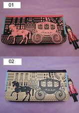 IDEA Regalo Donne Ragazze TEMA LONDRA PU Wallet Clutch Purse Handbag Colore 02