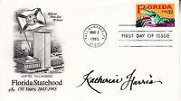 KATHERINE HARRIS (1957-) hand signed 1995 FDC autographed - Florida Statehood