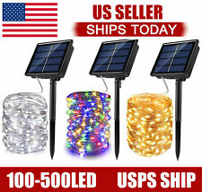 100-500 LED Solar Power String Fairy Lights Garden Outdoor Party Christmas Lamp