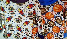 Space Rockets Or Sports Boys Pajamas 2 piece New Choice Size 12m-4T