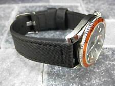 22mm Black PVC Composite Rubber Diver Strap Watch Band Seamaster Maratac 22