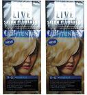 2 x SCHWARZKOPF LIVE SALON PERMANENT HAIR COLOUR 11-0 MEDIUM PLUS LIGHTENER NEW