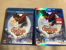 Disneys A Christmas Carol (Blu-ray/DVD, 2010) w/ Slip Cover Jim Carrey Brand New