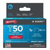 "ARROW 405 light duty staples 5//16/"" 8mm 5 pack of 1000"