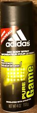 1 Can Adidas Deo Body Spray Pure Game 24 Hour Developed By Athletes 4 OZ NEW