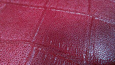 TURTLE TORTOISE EMBOSSED BURGUNDY  BORDO DISTRESSED SHEEP SKIN HIDE LEATHER