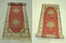 3 x 12 Radiant SilkTraditional skillfulness Handmade Red Runner Rug