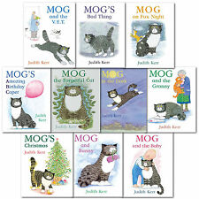 Judith Kerr Mog the Forgetful Cat Collection 10 Books Set Mog and Baby Christmas