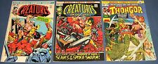 3 Issues of Creatures On The Loose: #16, 17 & 29