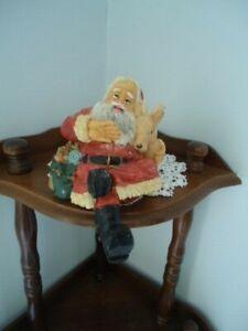 "Santa Cross Legs Stocking Holder Off Boot 6"" X 5"""