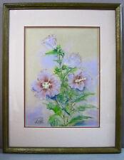 ROSS BENAVIDES__Vtg '66 Pastel Drawing__'Rose of Sharon'__Signed__ExC_SHIPS FREE
