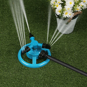 360° Rotating Garden Sprinkler Lawn 3-Arms Automatic Watering Irrigation System