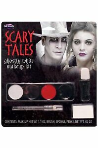Halloween Scary Tales Ghostly White Makeup Kit Zombie Dead Costume Theater  NEW!