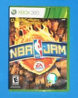 NBA JAM Microsoft XBOX 360 Basketball COMPLETE Video Game Case Manual