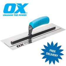 """OX Pro Ultraflex Stainless Steel Plasterers Finishing Trowel 11"""" 14"""" 16"""" & 18"""""""