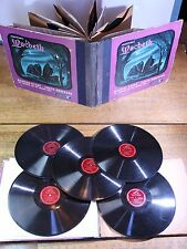 """78 ALBUM 1940s 5/5 Records 12"""" Shakespeare's Macbeth, with Supporting Cast/Music"""