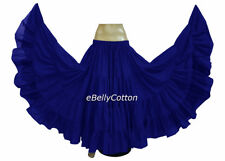 Royal blue Cotton Gypsy Skirt 25 Yard 4 Tiered Tribal Belly Dance Flamenco jupe