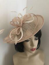 NEW Nude Beige & ivory/cream Fascinator Saucer Wedding Hat Formal Hatinator