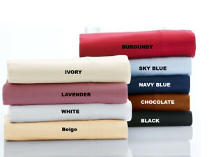 Glorious Bedding Sheets 4 PCs OR 6 PCs Egyptian Cotton Super King Solid Colors