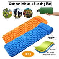 Isomatte Selbstaufblasend Schlafmatte Selfinflating Campingmatte mit Kissen
