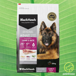 Black Hawk Adult Dry Dog Food Lamb & Rice 20kg (new)