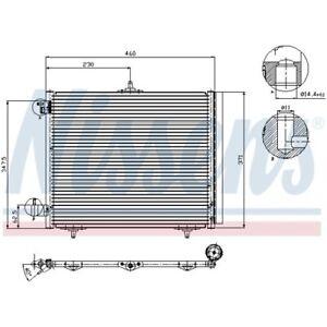 1 Kondensator, Klimaanlage NISSENS 94595 passend für CITROËN OPEL PEUGEOT DS