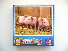 "Adorable ""THREE LITTLE PIGS"" 100 Piece Jisgsaw Puzzle 6+ BN"